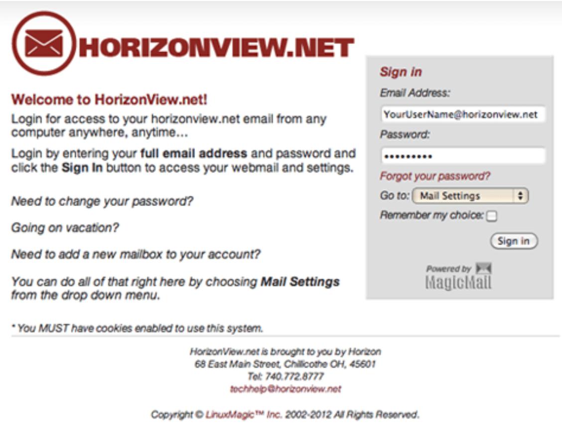 FAQs | Horizon | Internet Service Provider | Ohio Area