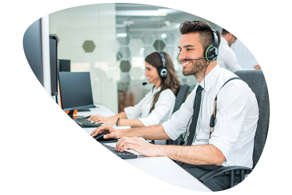 Customer Care reps using Horizon Hosted Voice